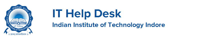 IT Help Desk IIT Indore